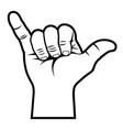 shaka hand sign 001 vector image vector image