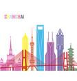 shanghai v2 skyline pop vector image vector image