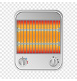 small heater mockup realistic style vector image vector image