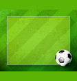 soccer ball with green glass field 002 vector image vector image