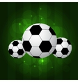 soccer balls isolated vector image