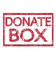 stamp text donate box vector image vector image