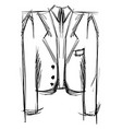 suit drawing on white background vector image vector image