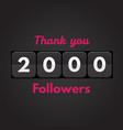thank you followers vector image vector image