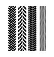 tire track brush seamless border vector image
