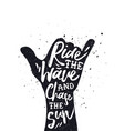 vintage surf beach poster shaka hand sign vector image vector image