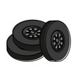 wheel tire icon image vector image vector image