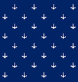 white anchor on blue background seamless pattern vector image vector image