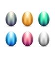 Metal Eggs Set vector image