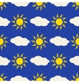 Sun and clouds in sky seamless background vector image