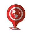 pin map pointer gps location shadow vector image