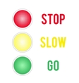 Traffic lights sign isolated on white background vector image