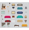 Set of Furniture Modern Flat style vector image