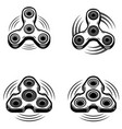 set of the hand spinner icons isolated on white vector image