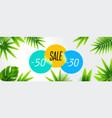summer sale discount end of season banner design vector image