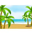 A peaceful beach vector image vector image