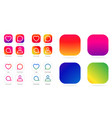 app icon template gradient fresh color set vector image vector image