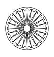 Ashoka Chakra symbol vector image vector image