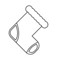baby socks cartoon vector image