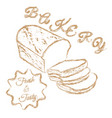bakery logo chalk hand drawn vector image