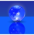 Blue planet earth the land of the rising sun and vector image vector image