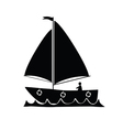 boat silhouette vector image vector image