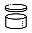 cake hat round carton package packaging vector image vector image