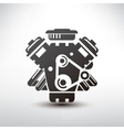 car engine symbol stylized silhouette vector image