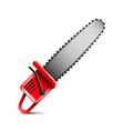 chainsaw isolated on white vector image vector image