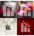 chart icon on blurred background vector image