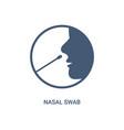 covid19 nasal swab icon corona virus nasal pcr vector image vector image