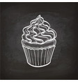 cupcake sketch on chalkboard vector image