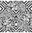 eclectic fabric seamless pattern animal and vector image