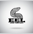 Eel logo concept for sport teams business vector image vector image