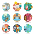 Energy flat icons composition set vector image
