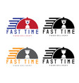 fast time delivery with cloche design template vector image vector image