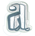 Font LETTER a vector image vector image