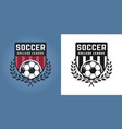 football or soccer two styles emblems or logos vector image vector image