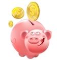 Full Piggy bank vector image