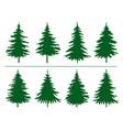 green spruce trees winter season design elements vector image