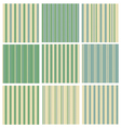 green striped background vector image vector image