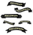 halloween horizontal banner with logo on a black vector image vector image