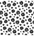 hand drawn pattern with black round elements vector image vector image