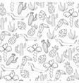 hand drawn tropical print vector image