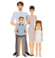 Happy family full length vector image vector image