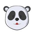 Head of panda bear icon cartoon style vector image vector image