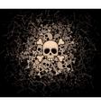 Heap of skulls and bones vector image vector image