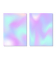 holographic gradient cover set retro style vector image