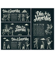 horizontal poster for day dead dia de los vector image vector image
