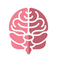 human brain abstract logo or icon vector image